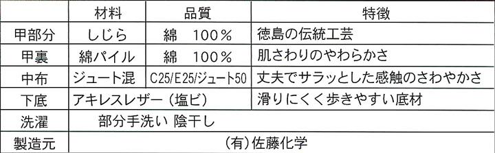 阿波しじらバブーシュ【グラデーション柄】Lサイズ